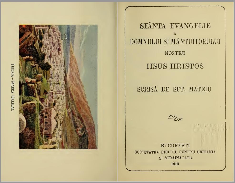 Evanghelia după Matei, 1913